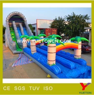 2017 summer inflatable water slide aqua park slide children water slide