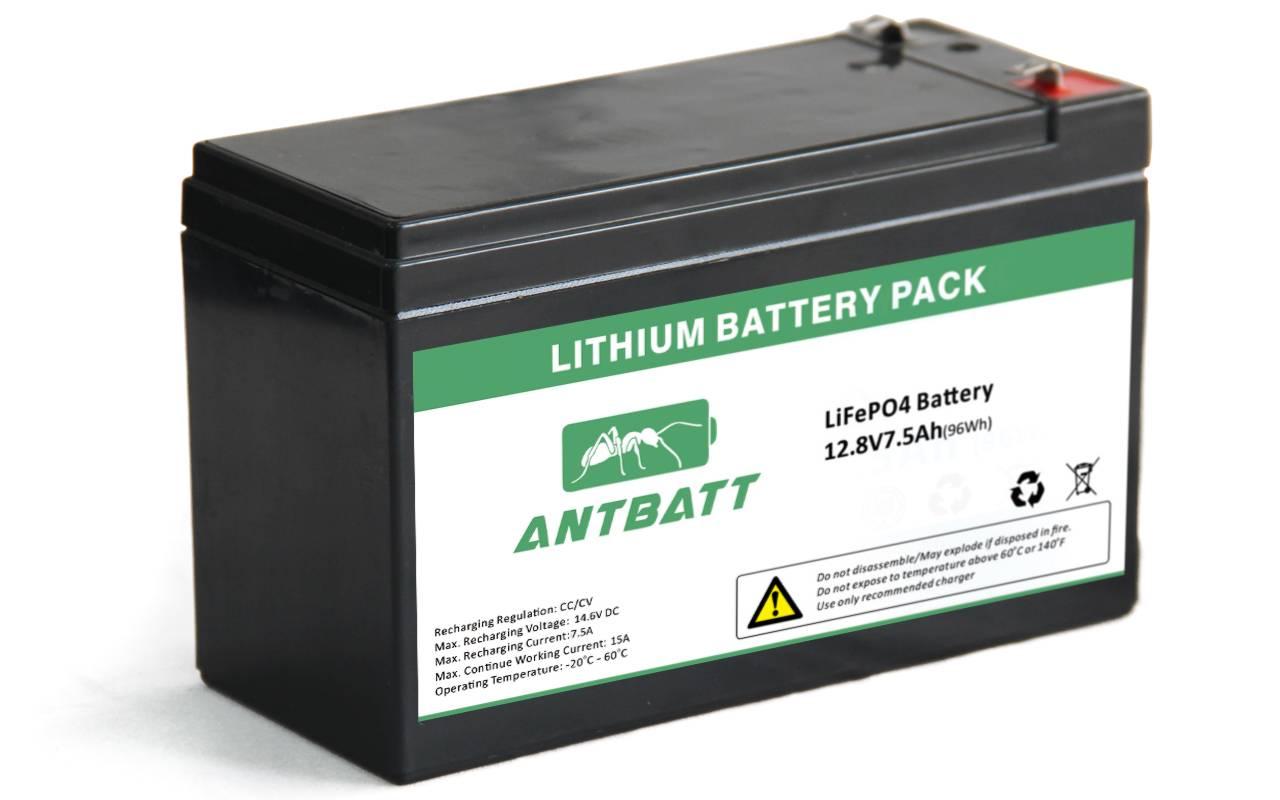 LiFePO4 12.8V 7.5Ah Battery Pack