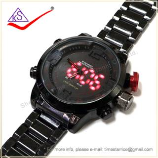 Latest Analog Digital Outdoor Use Running Wrist Watch with Water Resistant