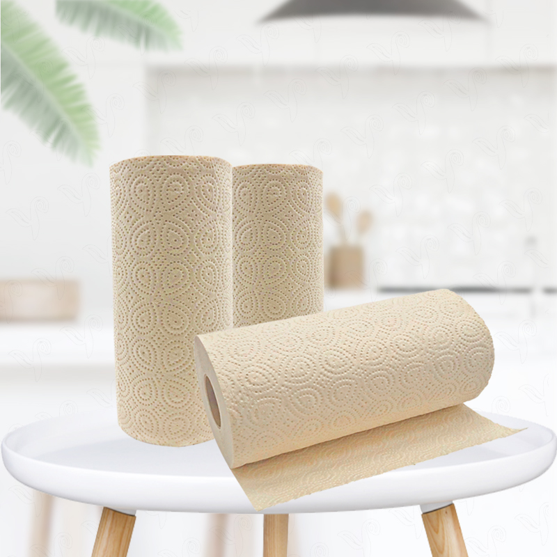 Chinese Professional Paper Supplier Durable Using Bamboo Pulp Kitchen Roll Paper