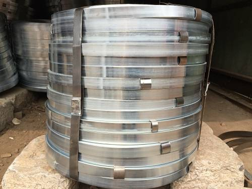 Electrogalvanizing steel strip
