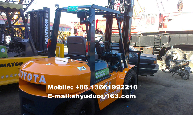 Used 5ton Toyota Diesel Forklift 02-7FD50