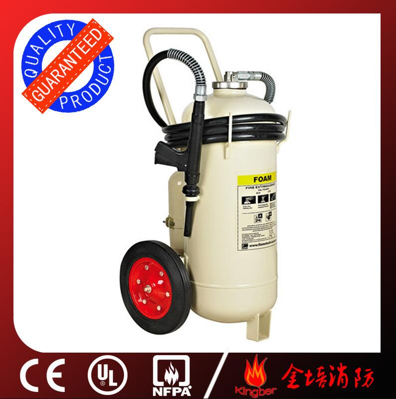100L Trolley Cold-Roll Steel Foam&Water Extintor With External Gas Cartridge for Warehouse Using wit