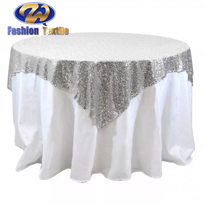 Cheap White Sequin Round Tablecloth Wedding