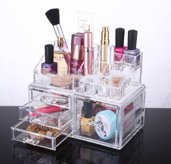 acrylic cosmestics dispaly rack organizer
