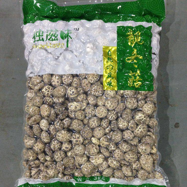 Dried Tea Flower Shiitake Mushroom Whole 3KGS Pack with Cap 3-4CM