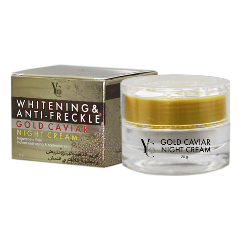 Cream Whitening & Anti-Freckle Gold Caviar Night Cream