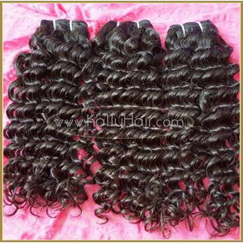 8-30 Inch Deep Wave Natural Black Hair Weave