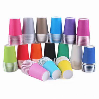Wholesale colorful custom party disposable drinking paper cup