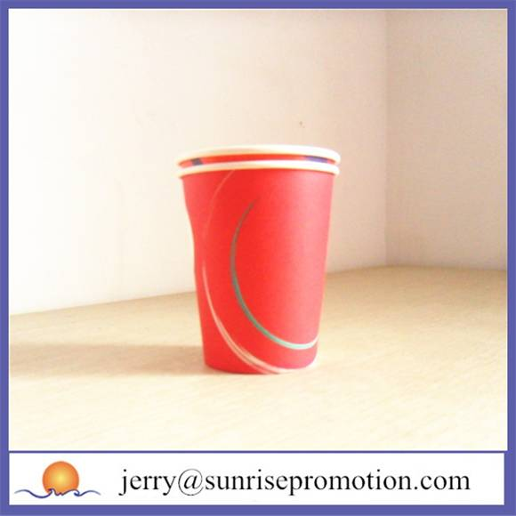 Double wall printed 10oz coffee cup