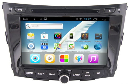 touch screen android car dvd player for ssangyong