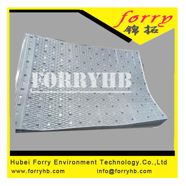 910x1250mm PVC infill for cooling tower
