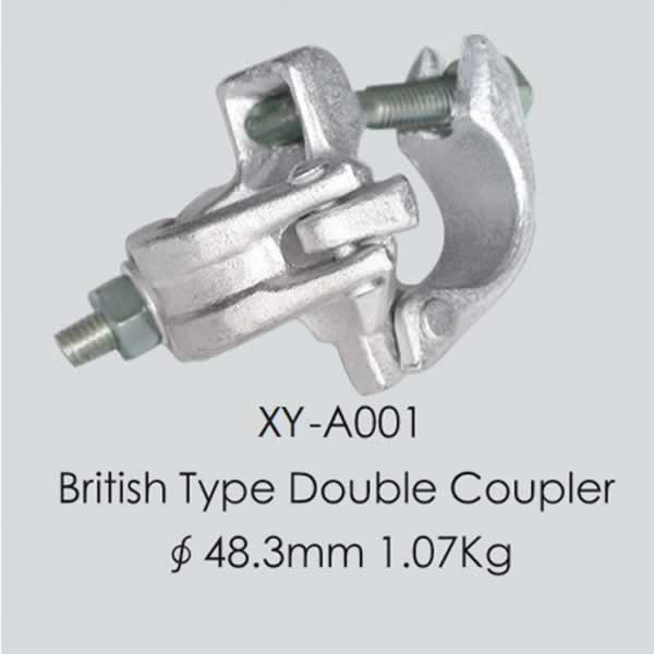 galvanized scaffolding forged double/bs1139 fix couplers Scaffolding Tube Coupler