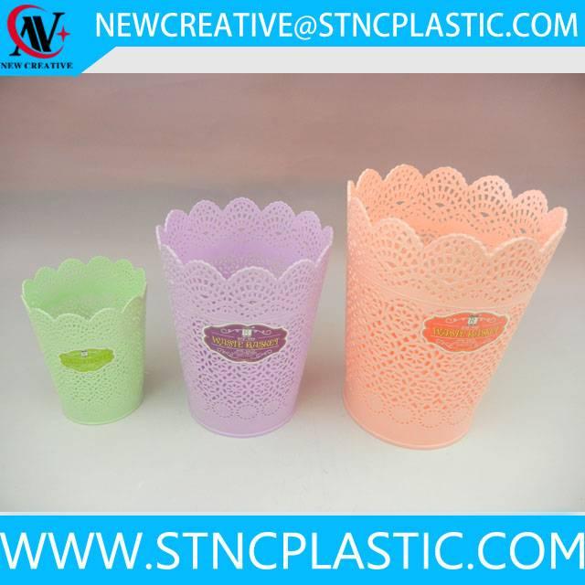 indoor open top plastic papre waste basket