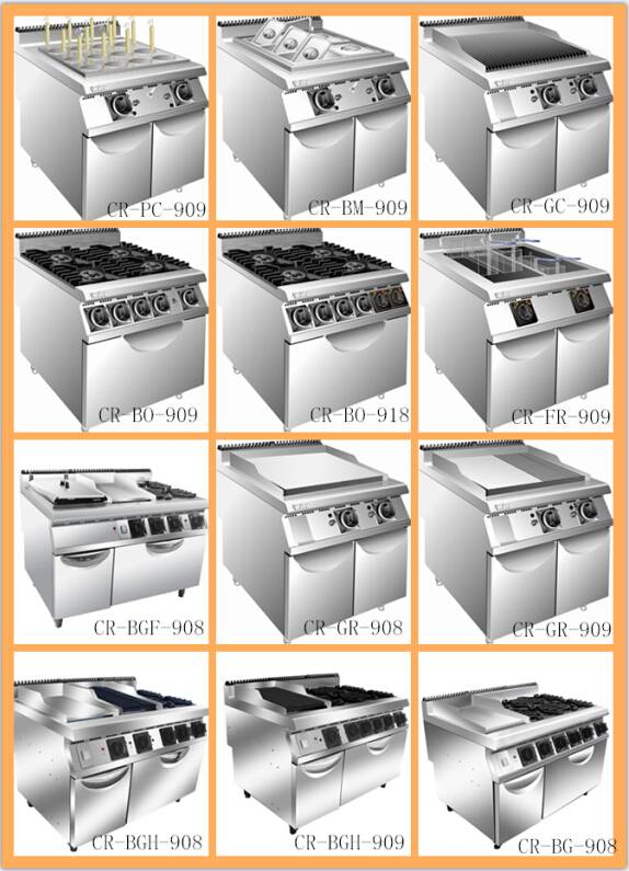 Gas range catering cooking equipments