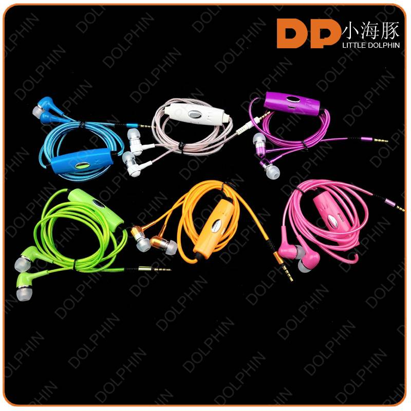 New products stereo quality EL glow earphone led flash earphone