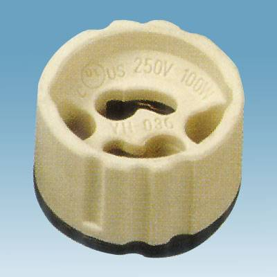 Gu10 ceramic lamp holder without wire in VDE certificate