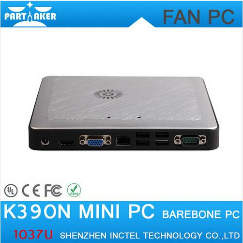 Affordable price cheap intel mini pc dual core 1.8Ghz silver aluminum alloy htpc K390N