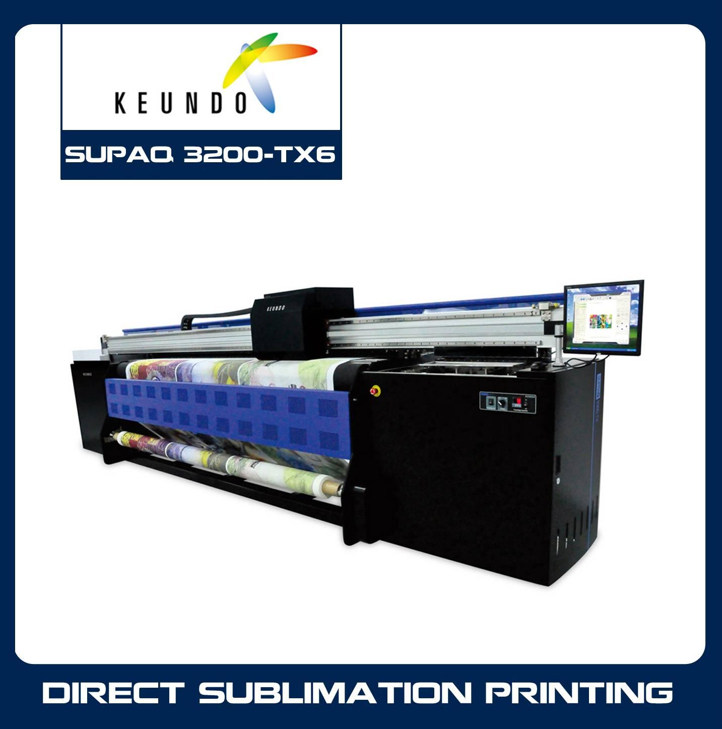 KEUNDO SUPRAQ 3200-TX6 Grand Format Dye Sublimation System