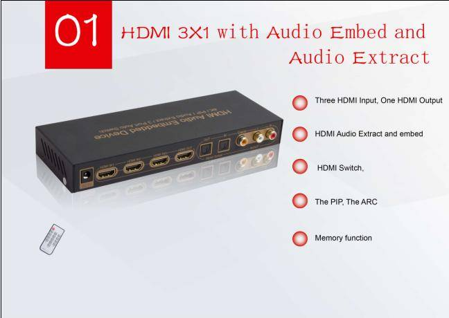 hdmi audio embedded device with ARC,4K