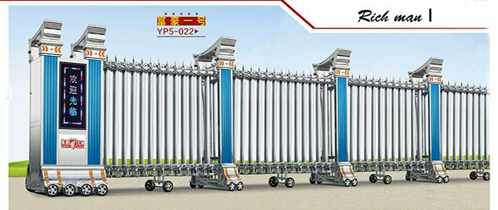 Fashionable Stainless Steel Electric Folding Gate in good price Rich man I