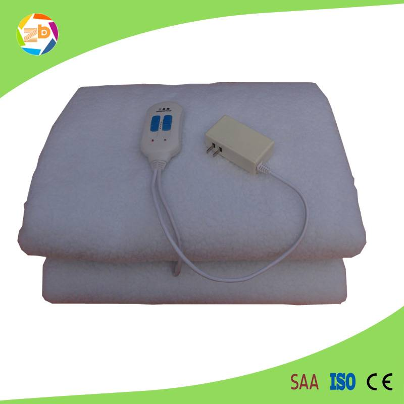 pure white wholesale electric heating blanket/bed warmer