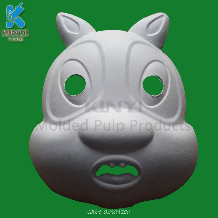 Food grade healthy bagasse pulp mold lovely animals mask
