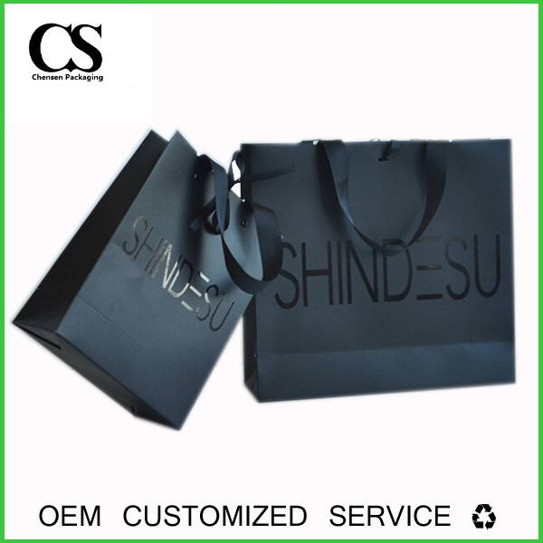 high quality custom offset printed packing paper bag