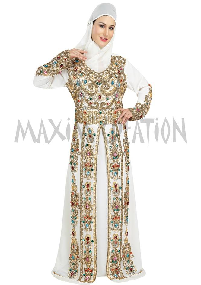 Stylist Dubai Islamic Arabian Fancy Maxi Thobe Party Wear Dress