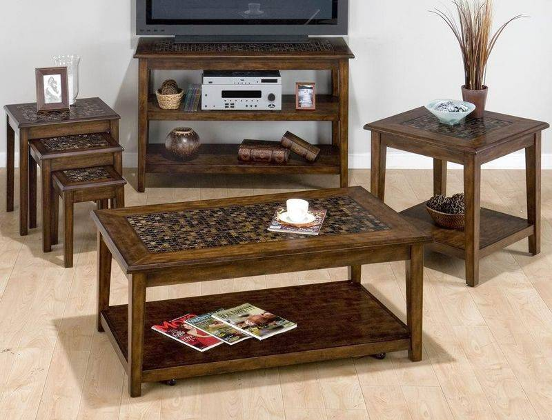 Newest wooden small cheap coffee table set