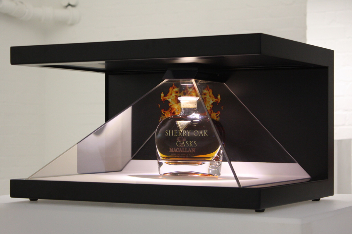 19inch 3D holographic display for products promotion