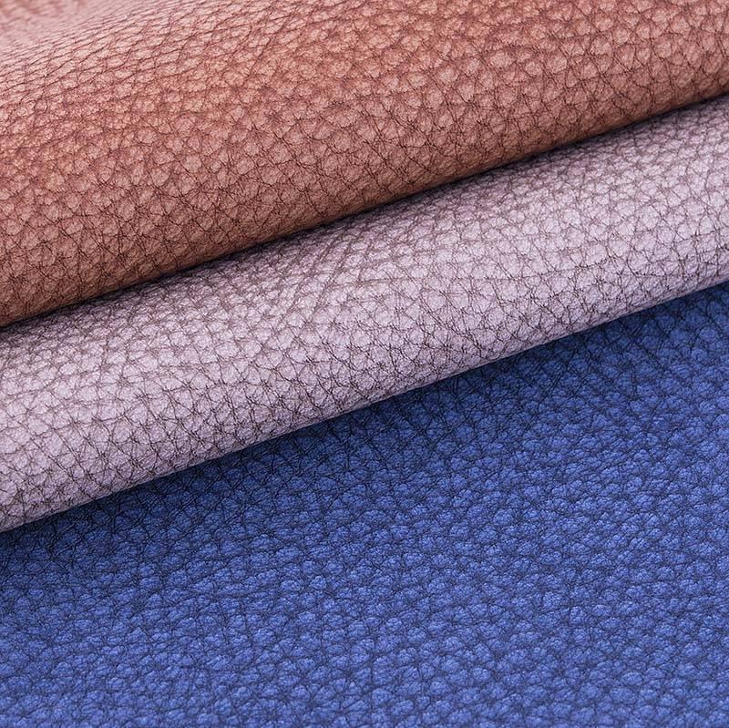 Fashion lichee pattern leather fabric - V001