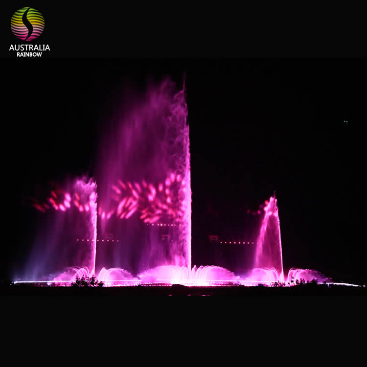 Large Outdoor Customized Water Dancing Musical Fountain with LED Light Holographic Laser Projection