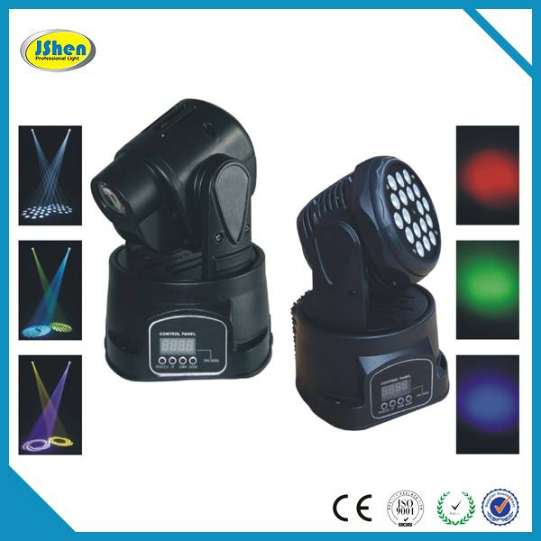 Hot!18x3w Mini led moving head light