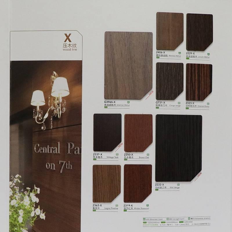Greenia wood grain plastic laminate/laminate hpl/kitchen cabinets