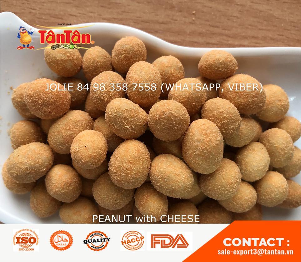 Coated PEANUT with CHEESE FLAVOR Factory Exporter (Tan Tan Vietnam, Jolie 84 983587558)