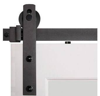 American style black powder coated wooden sliding barn door hardware