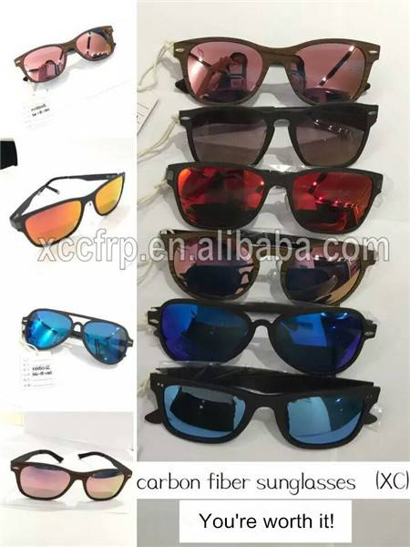 Fashion Design Carbon Fiber Sunglasses 1k Carbon Fiber