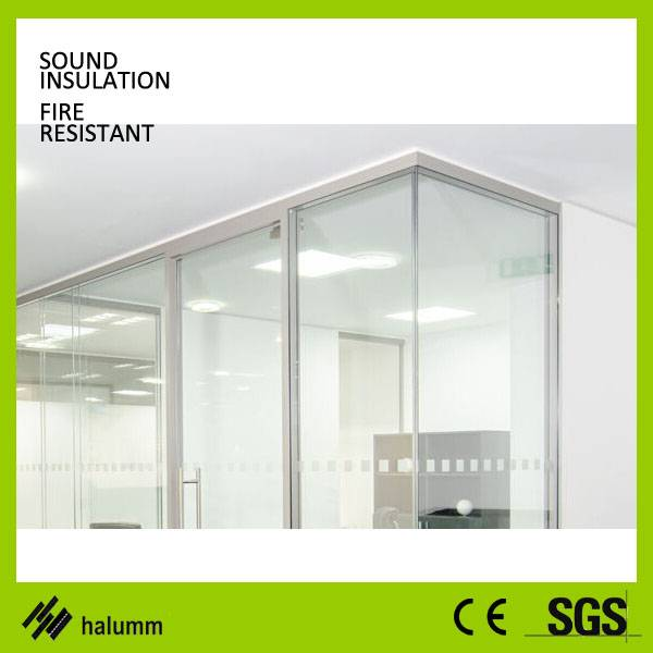 Single glass office partition tempered glass high partition wall divider inside wall corridor glass