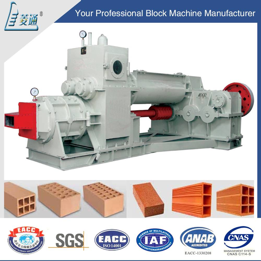 Fully Automatic Clay/Soil/Earth/Mud Interlocking Clay Brick Block Making Machine by Vacuum Extruder