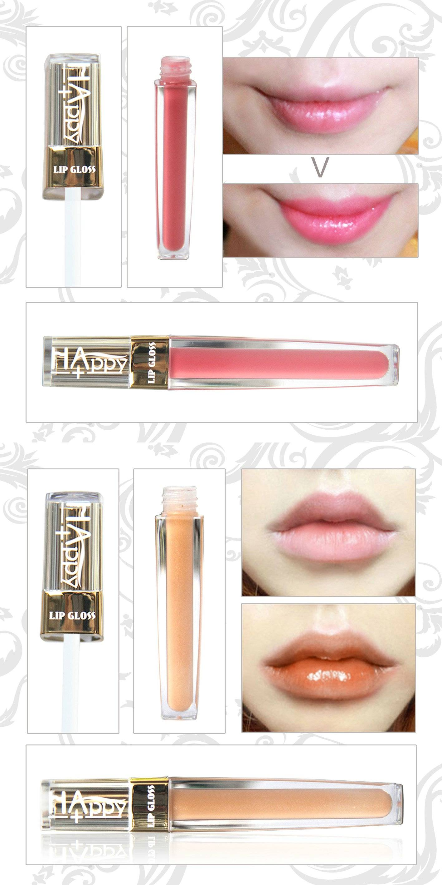 HAPPY+ Lip Gloss Lip Shine Lip Gel