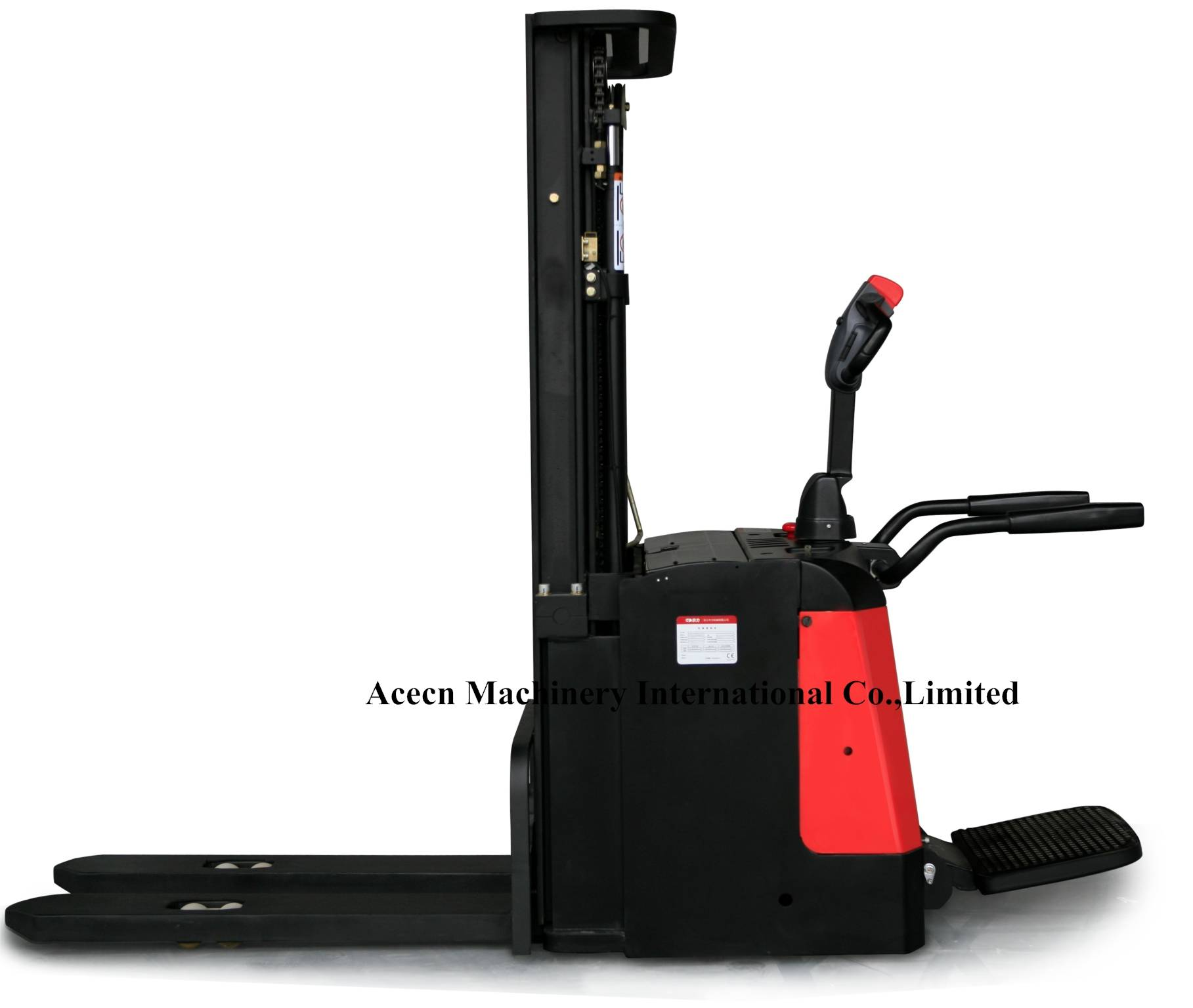 1.6T Electrical Steering Stacker Forklift with CE Standard