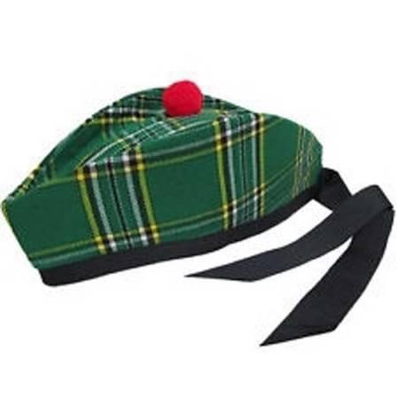 IRISH NATIONAL TARTAN GLENGARRY CAP