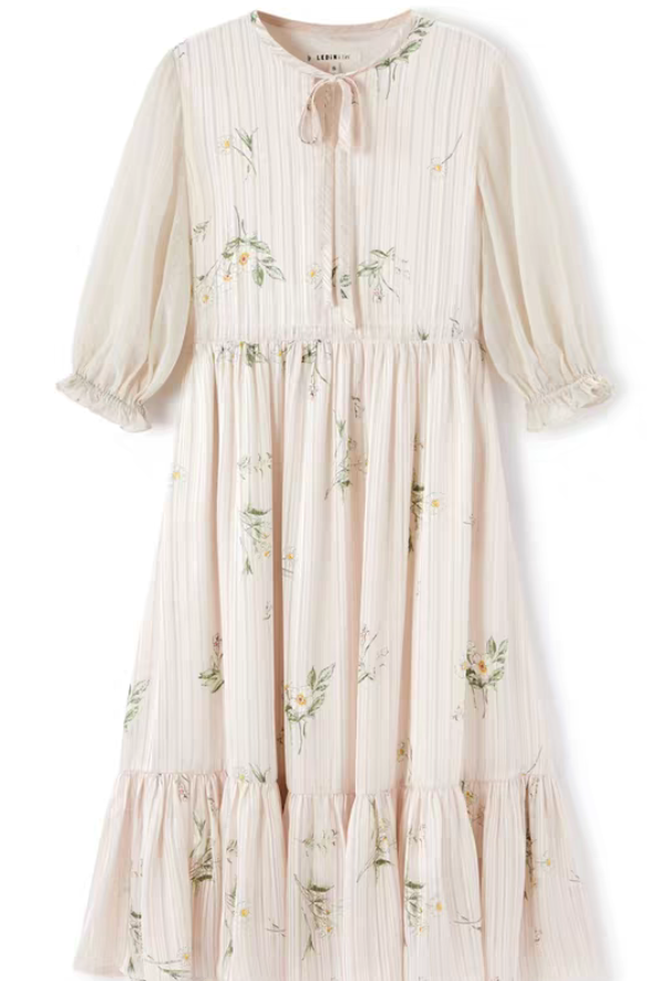 NEW chiffon print dress for summer