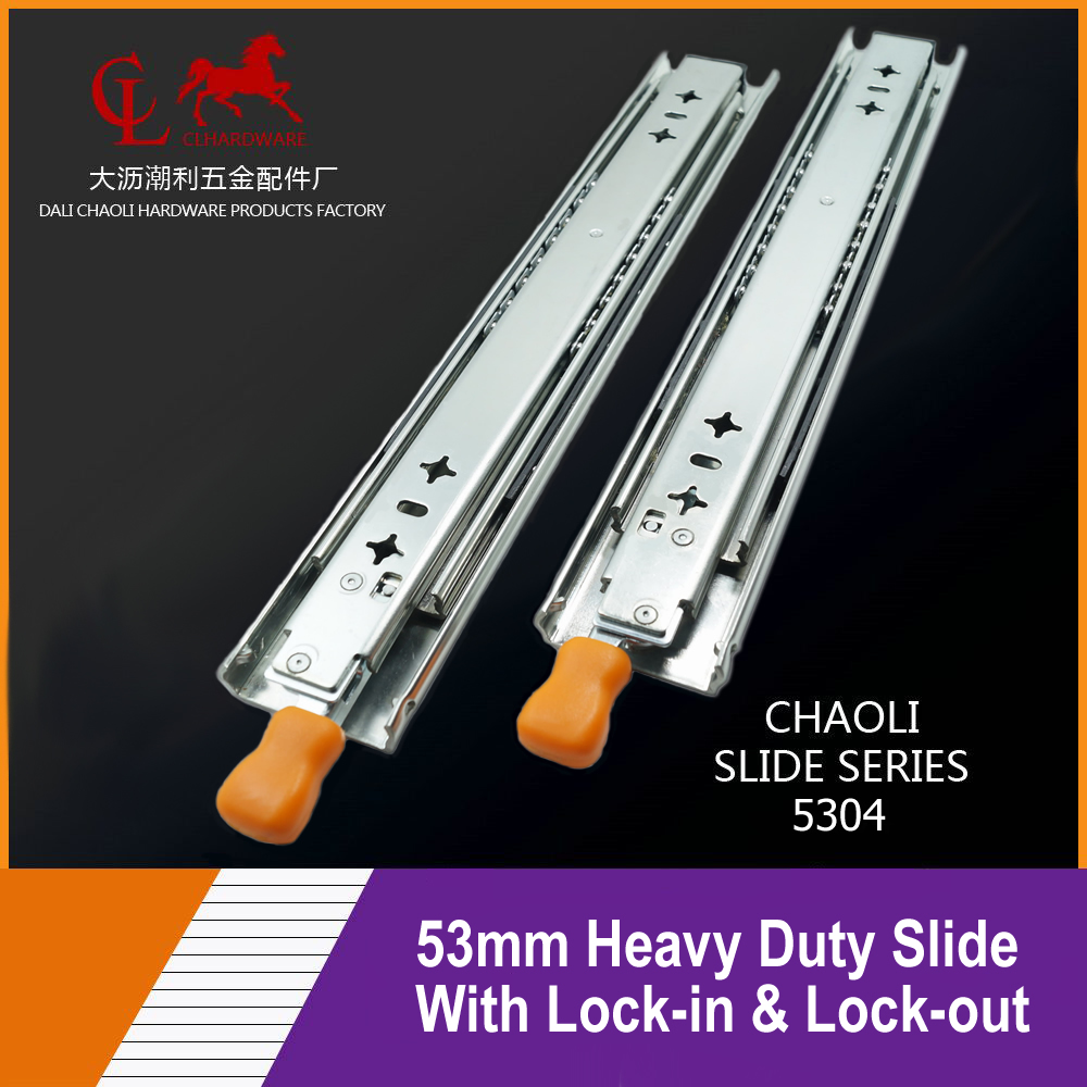 53mm Heavy Duty Drawer Slide with Lock-in & Lock-out 5304
