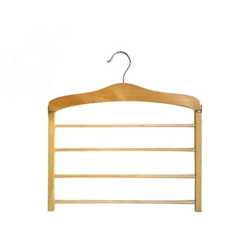 4 Bar Wooden Pants Hanger 4 BAR
