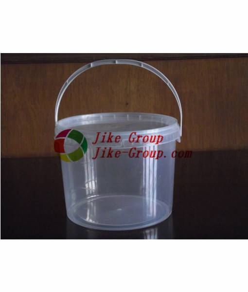 Clear Plastic Bucket and Transparent Pail with Lid PP clear food grade plastic bucket 1 liter with l