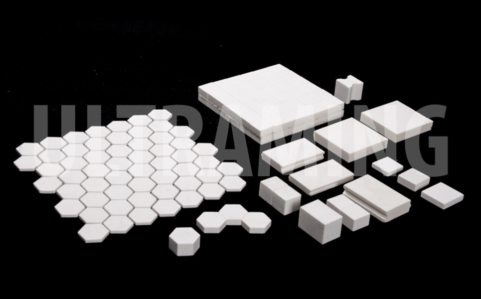 HI-grade Alumina Ceramic Square liner and Ceramic Wear Resistant Hexagon Lining pieces, Ceramic Wear