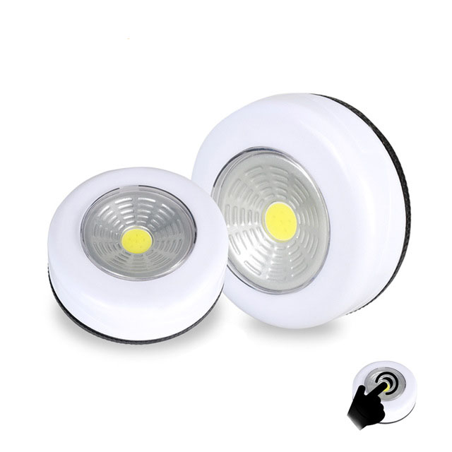 COB touch light LED round under cabinet light wall lamp closet cabinet emergency light kitchen light
