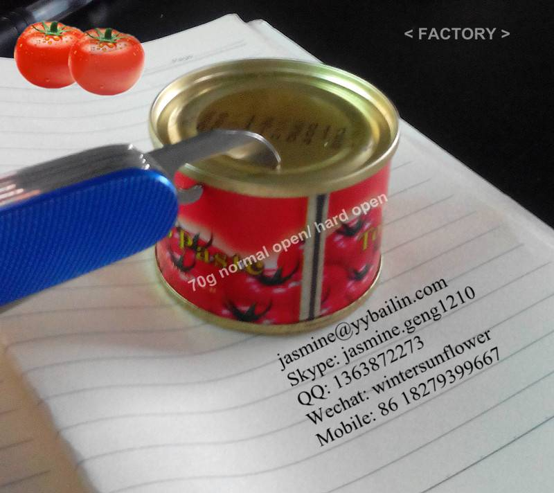 Factory supply canned tomato paste brix 28-30%
